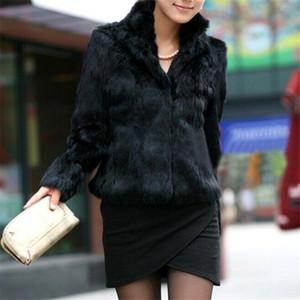 Sonbahar ve Kış İmitasyon Kısa Moda Standı Yaka Uzun kollu Coat Fur Kadın Kore Sürüm Beyaz Ceket