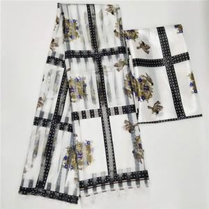 Venda quente de alta qualidade Imitação de tecido de seda Tecido de impressão Africano Tecido Nigeriano Ankara Tecidos African Wax Imprime! F966 T200529.