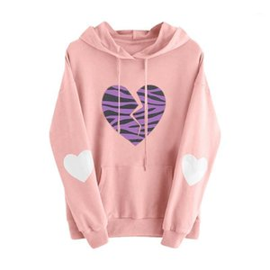 Womens Long Sleeve Heart Pocket Hoodie Sweatshirt Jumper Pullover Tops Blouse1
