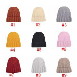 Вязаная шерстяная шапка зимы теплая шапка С Tide и Velvet Толстые Теплый Hat Сплошной цвет Мужские и Баотоу Cap Партия Шляпы Женская Supplies RRA3716