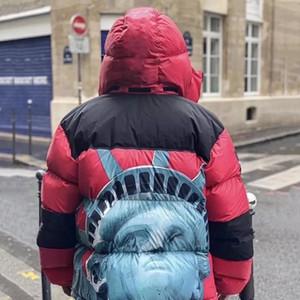 Yeni Kış Erkek Parka Ceket Moda Erkekler Aşağı Ceket Kapşonlu Rüzgarlık En Kaliteli Heykeli Fo Liberty Saf Pamuk Aşağı Ceketler Erkekler Doutoune