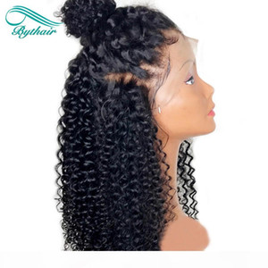 Bythair Lace Front Human Hair Wigs For Black Women Curly Lace Front Wig Virgin Hair Full Lace Wig With Baby Hair Bleached Knots