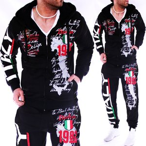 ZOGAA Mens Tracksuit Casual Sweatsuits Men 2 Piece Set Outfits Sportswear Tops and Pants Mens Matching Set Workout Track Suit 201123