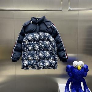 hombre diseñadores de ropa abajo Pentagram chaquetas Empalme los bolsillos del abrigo de invierno para hombre abrigos para hombre con capucha chaqueta informal
