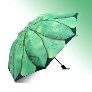 Il bbyrqv Umbrella Corporation pioggia Donne Paraguas Plegable Ombrello Parapluie Banana Leaf manualmente pieghevole Unisex Donne Umbrella