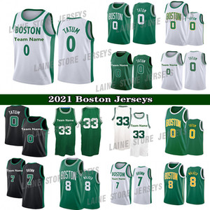 2021 New Jayson 0 Tatum Kemba 8 Walker Marcus 36 Smart Jaylen 7 Brown Jersey Mens City Basketball Jerseys