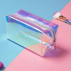 2020 Горячая распродажа лазерная конструкция прозрачная дорожная сумка женский антирудный желе сумка из ПВХ косметическая сумка женщина