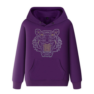 Männer Frühling mit Kapuze Medusa Tiger Head Sweatshirts Frauen Harajuku Daisy Print Warm Mantel Hoodies Männliche Übergröße Pullover Große Größe 5XL A09