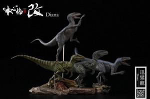 In Stokc Nanmu 1:35 Velociraptor Team Raptor Dinosaur Baldwin Ceasar Diana Edgar Human Figure Limited Quantity With Retail Box