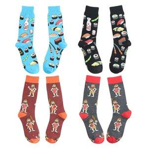 Nuovo design casual calzini Harajuku Style calzino divertenti del fumetto Flamingo Penguin Anatra Stampa animale Happy Socks Men DWC2907