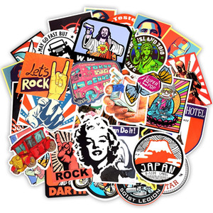50pcs Lot Retro Style Sticker Graffiti Travel Funny JDM Stickers for DIY Sticker on Suitcase Luggage Laptop Bicycle Skateboard Car Stickers