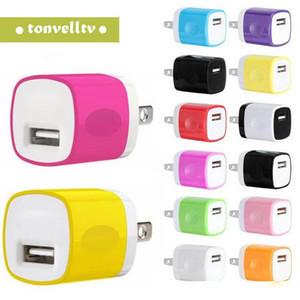 US Ac Início carregador de parede Power Adapter Para Samsung Para alta qualidade colorido 5V 1A Iphone 11 X 6 7 mais