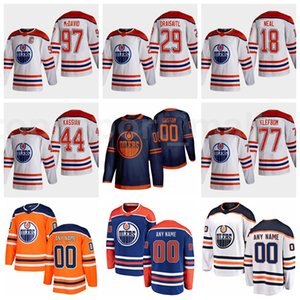 2021 Edmonton-Öler Reverse Retro 97 Connor McDavid Jersey Eishockey 29 Leon Draisaitl 18 James Neal 77 Oscar Klefbom 44 Zack Kassian
