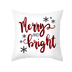 Merry Christmas Cushion Cover 45cm Pillowcase 2020 Christmas Decorations For Home Xmas Noel Ornament Happy New Year 2021 sqchKp sports2010