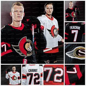18 Tim Stuetzle Ottawa Senators 2021 Jersey Brady Tkachuk Thomas Chabot Connor Brown Craig Anderson Nikita Saizew Ron Hainsey Tierney