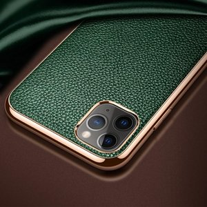 NEW For iPhone 11 SULADA Litchi Texture Leather Electroplated Shckproof Protective Case
