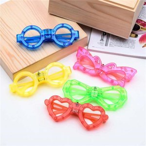 LED Glasses Flash Luminous Blind Eyewear Light Eye Mask Blinking Glowing Glasses Wedding Carnival Dance Bar Party Christmas Toy FWD2083