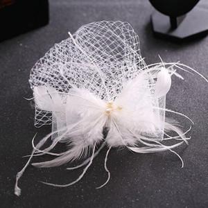 Befer Cap Lady Cocktail Dunning Party Fedoras Свадебная свадьба Bridal Bowknot Mesh Vuil Hats Vintage Sombreros Chapeau Chapnators LM059 H JLLRSN