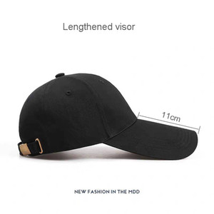 New Unisex Cotton Baseball Caps Hats Solid Color Long Visor Hats for Men Female Street Style Snapback Dad Caps Youth Gorras 201014