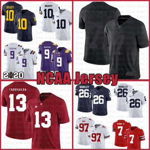 Ícone 2,0 Fiel a 7 Colin Kaepernick 13 Tua Tagovailoa Football Jersey All Black I Am com Kap Alabama Crimson Tide 10 Tom Brady 9 Joe Burrow