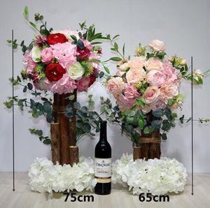 İpek simülasyon ana tablo çiçek yol kurşun pencere dekorasyon sahne çiçek top çiçek aranjman düğün masa işareti masa dekorasyon