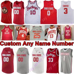 2020 Yeni Ohio State Buckeyes Basketbol Jersey NCAA Koleji Kyle Young D.J. Karton Kaleb Wesson Alonzo Gaffney Muhammed CJ Walker Wesson