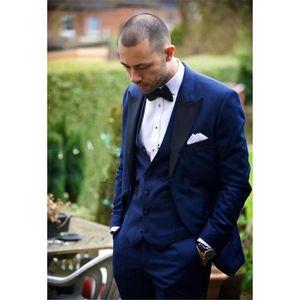 2020 Custom Made Groom mens Suits Tuxedos For Prom Wedding (Jacket+Pants+Vest) Men Suit Costume Marriage Homme Groomsmen Formal