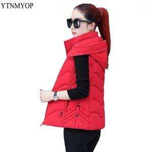 YTNMYOP Yelekler Kadınlar Için Kolsuz Kadın Ceket Sıcak Yelek Giyim Aşağı Pamuk Yastıklı Ceket Düzenli Kalın Yelek Kapşonlu Lady11