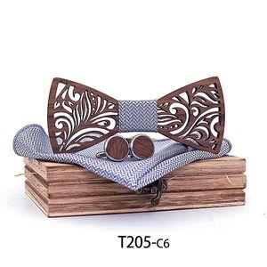 Деревянная бабочка набор 9 стилей носовой галстуки бабочка Запонки для мужчин бизнес чирстов подарок свободный TNT DHL FedEx