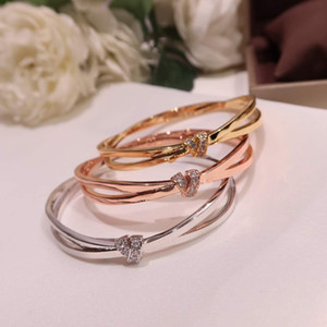 luxurious jewelry S925 luxurious designer bracelet fashion ladies charm bracelet sterling silver bow with diamond plated 18K box