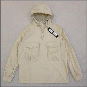 Горячая продажа 19SS GHOST PIECE КУРТКА / Анорак COTTON NYLON ТЕЛА пуловер куртка Мужчины Женщины пальто Мода Верхняя одежда балахон