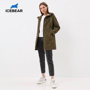 ICEBEAR 2020 la mode des femmes trench qualité printemps coupe-vent marque vêtements GWF7I Q1107