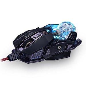 AAAJ-KCPDS Gaming Mouse Ergonomic Проводная мышь 8-клавишный LED 4000 DPI Оптический макрос программируемый USB Компьютер проводной игровая Moos