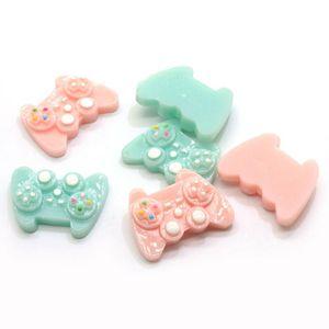 10 100pcs Hot Selling Newest Game Hadling Controller Gamepad Miniature Resin Simulation Flatback Beads Kawaii Loose Sticker