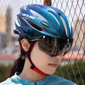 Cycling Helmet Women Men Adjustable Breathable Ultralight Bicycle Helmet Goggles