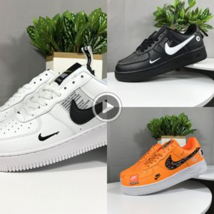 uq9j4 Sale 2019 New Design Forces Men board shoes Low Skateboard Shoes Cheap One Unisex 1 Knit Euro Air High Women All White Black Red Sise