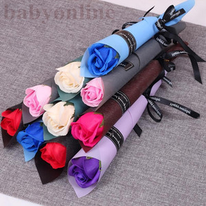 Hot Selling Rose Carnation Flowers Simulated Fake Latex Roses 43cm Long 12 Colors for Wedding Party Artificial Decorative Flowers