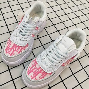 NIKE Air Force 1 x Dior 2020 New Men Women Low Cut One 1 Casual Shoes preto branco Dunk Skate Sports Shoes clássico Trainers alta Sneakers NR88