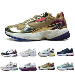 La alta calidad de los zapatos corrientes Falcon W para las mujeres de los hombres de alta calidad de diseño, negro, blanco ocasionales de los deportes zapatillas de deporte originales activa al aire libre 36-45
