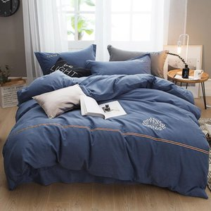 40S Thicken Cotton Home Bedding Set Teen Adult Duvet Cover Bed Sheet Pillowcases BedSpread Twin Queen King Size