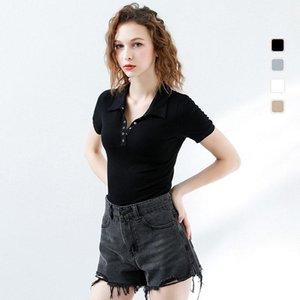 Wasteheart Estate New Black Grey Khaki Donne Camicie maniche corte in cotone T Ins sexy Fashion Casual Ufficio S M