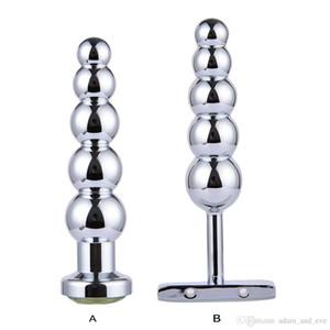 Cinque Plug Stainless Steel Butt Plug Giocattoli palle Anal Dildo Massager della prostata anale per Sesso Donna Konjx