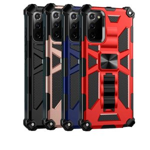Hidden bracket Armor Cases for Galaxy S21 S20 Ultra Note20Ultra A51 A71 5G A21S A31 A11 A50 Case Magnetic Car Coque Stand Shockproof Cover