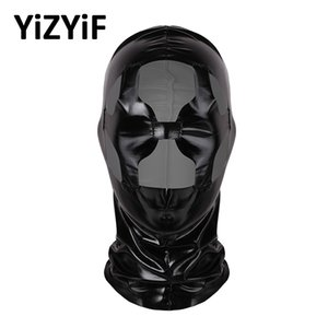 costumes cosplay Unisex Natural Latex Full Face mask hood Shiny Headgear for Halloween Party Role Play Costume