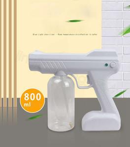 800ml Handheld Atomizador sem fio Nano vapor de atomização Desinfecção Nevoeiro Hair Spray máquina portátil Household limpeza ferramenta shipFFA4502 mar