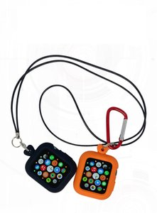 Silicone Case cover With Rope Buckle For Apple Watch Series 6 SE 5 4 3 2 1 300pcs lot