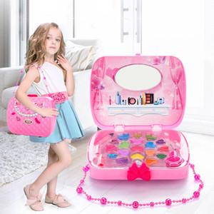 Kind Make-up Set Spielzeug Koffer-Dressing Kosmetik Mädchen Spielzeug Plastik Schönheitssicherheit Pretend Play Kinder Mädchen Makeup Games Geschenke 201021