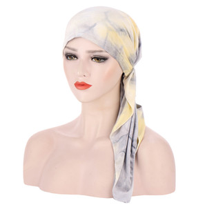 Muslim Velvet Turban Headwrap Hat for Women Pre-Tied Chemo Beanies Caps Bandana Headscarf for Cancer Hair Accessories