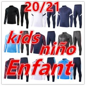 2020 2021 new kids soccer tracksuit football training kids football kits 20 21 kids football training suit jogging jacket survetement chanda