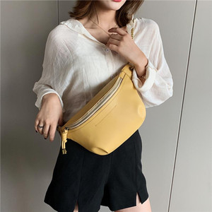 Summer Soft Chest Bags For Girls Candy Color Women Sling Waist Pack Phone Crossbody Bags 2020 Yellow White Green